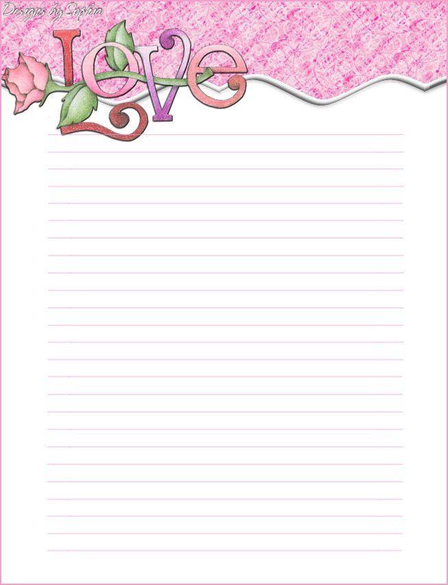 Printable Valentine Stationary | File Name : love%20topper ...