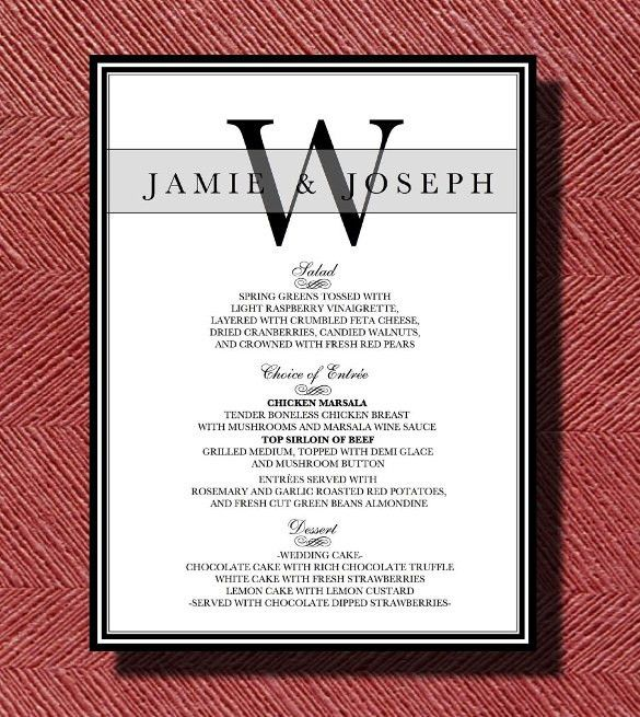 Dinner Menu Template – 33+ Free Word, PDF, PSD, EPS, InDesign ...