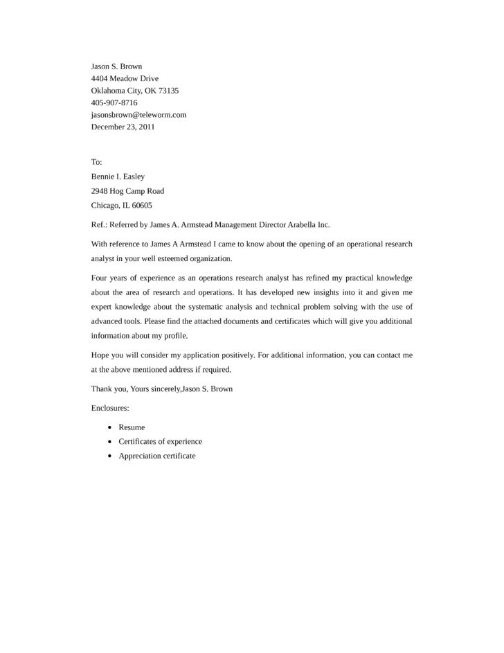 Sample Research Analyst Cover Letter] Research Analyst Cover Letter ...