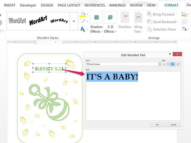 How to Use Microsoft Word to Make Your Own Baby Shower Invitations ...