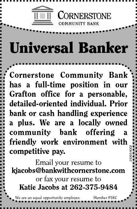 Universal Banker Cover Letter