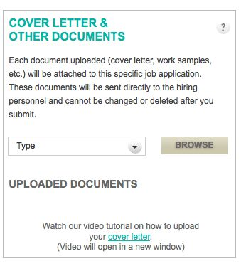 How do I upload a cover letter? – CharityVillage Help Desk