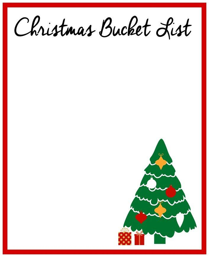 Make a Christmas Bucket List (Day 15 of 31 days to take the Stress ...