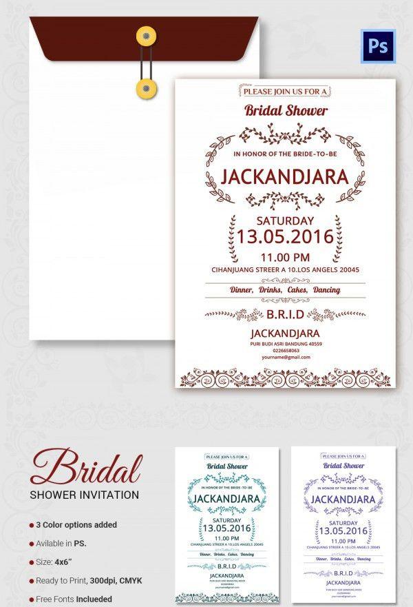 Wedding Shower Invitation Template – gangcraft.net