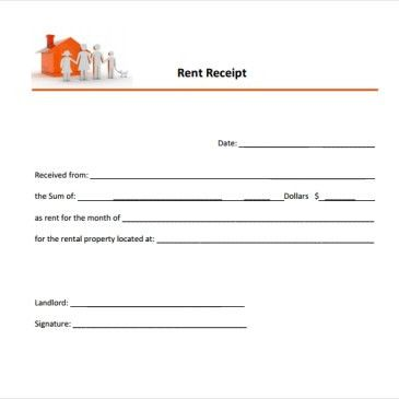 Apartment Rent Receipt Template Archives - Word Templates