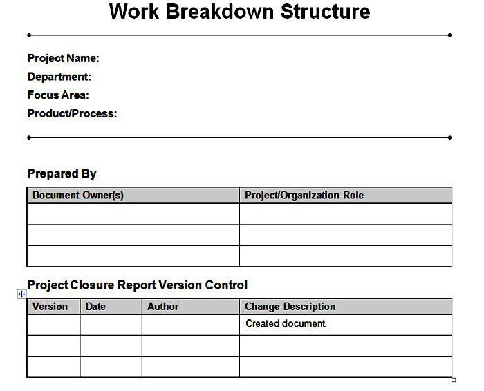 10 Work Breakdown Structure Template Excel xlsx tools