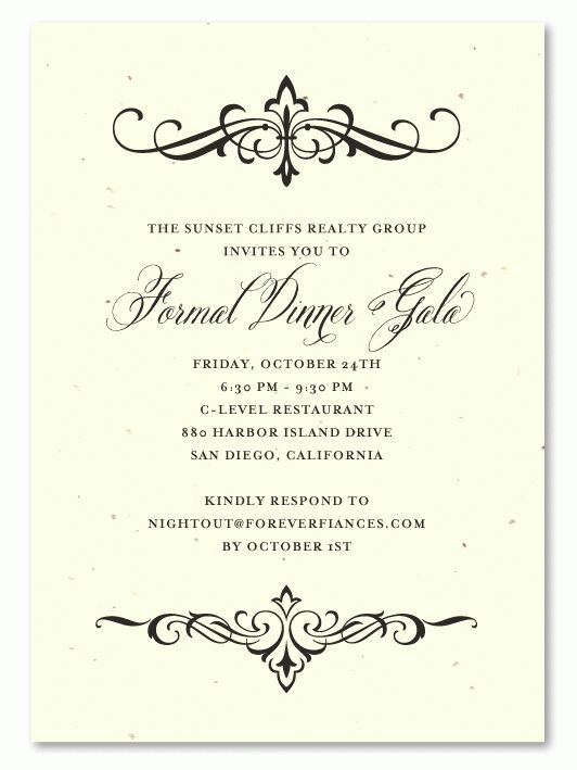 Financial Holiday Party Invitations on seeded paper | Elegant ...