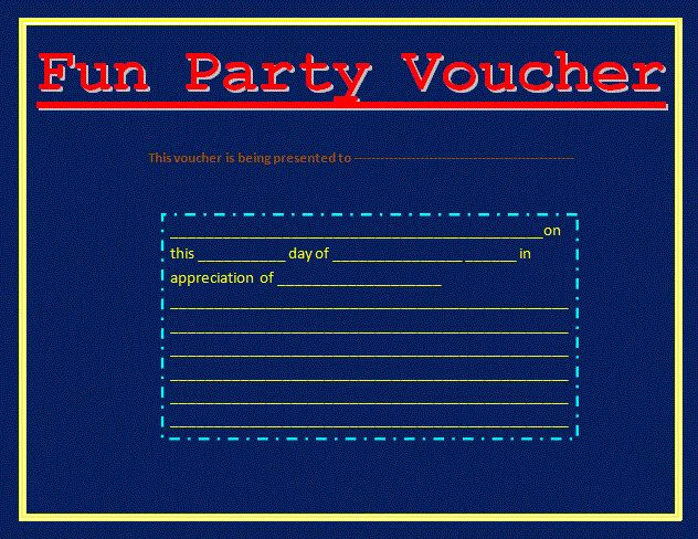 Fun Voucher Template | Voucher Templates