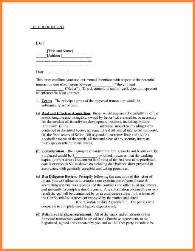 6+ letter of intent to purchase a business template | Purchase ...