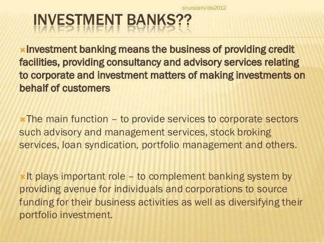 chapter 4 finance companies and investment banks