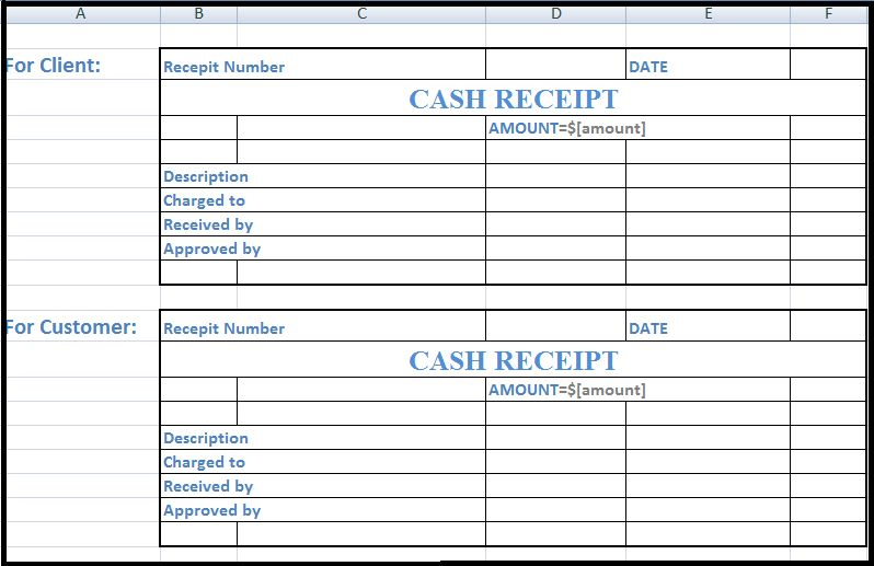 Free Cash Receipt Template in Word, Excel & PDF Format | Daily Roabox