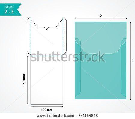 Die Cut Pocket Envelope Template Stock Vector 339277052 - Shutterstock
