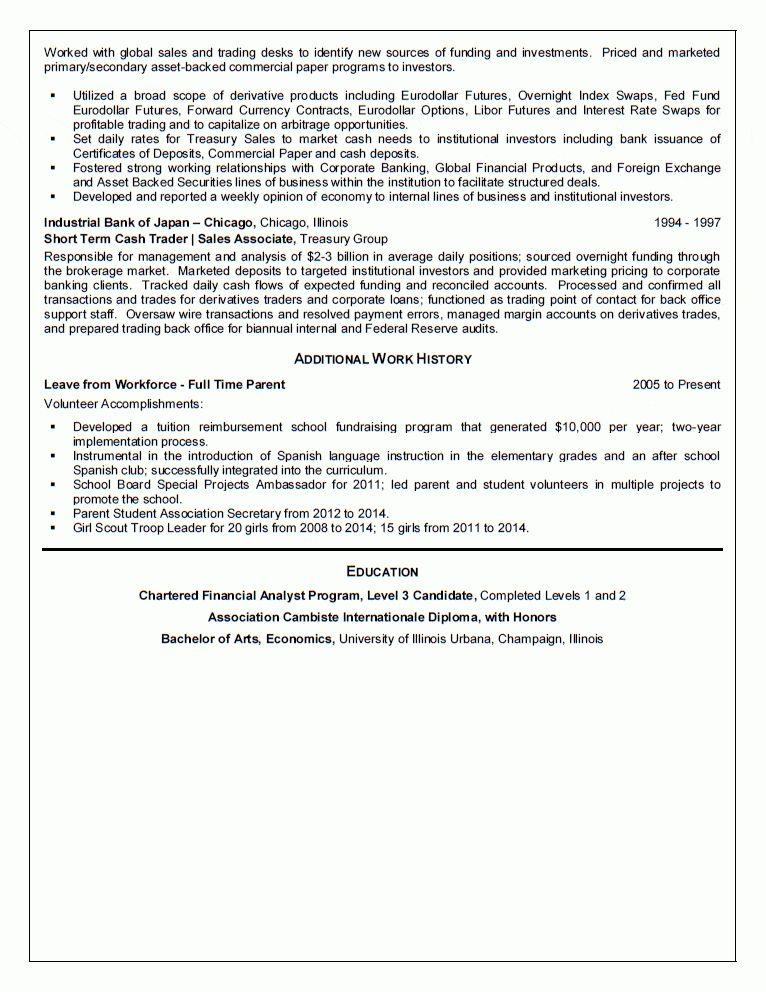 Analyst Resume