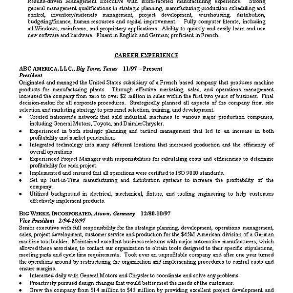 objective summary resume