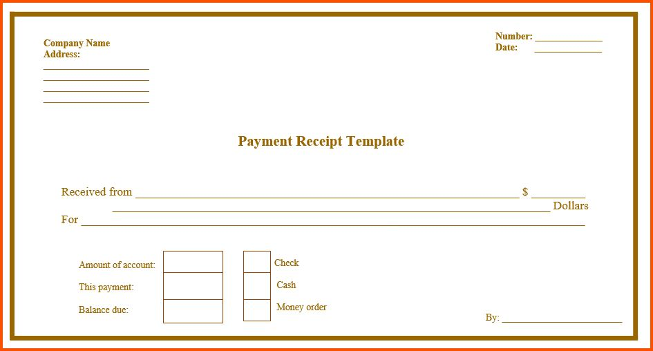 11+ printable receipt template   Survey Template Words
