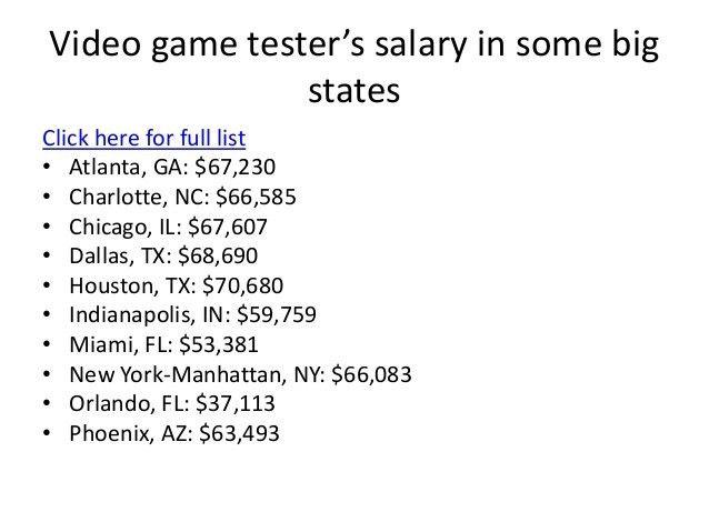 Download Video Game Testers Salary | haadyaooverbayresort.com