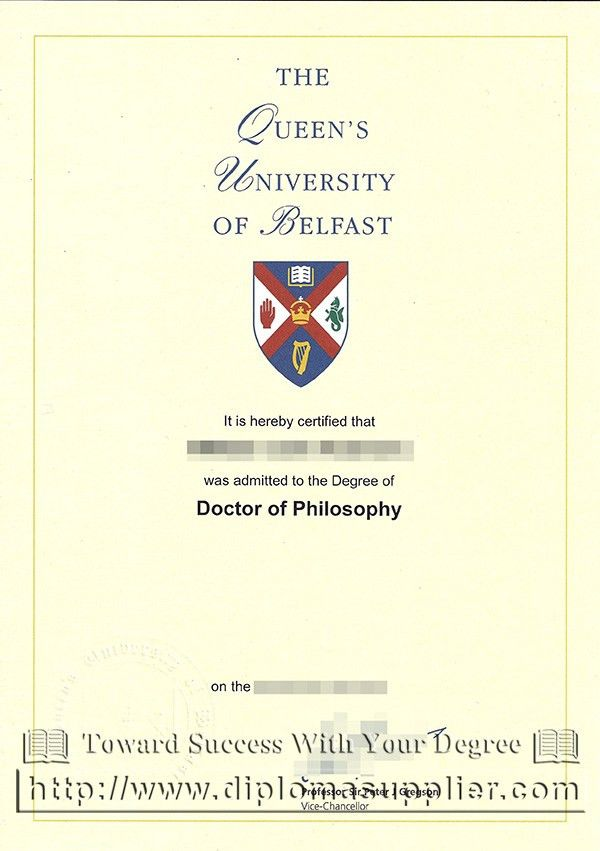 buy QUB fake degree, Queen's University Belfast degree certificate ...