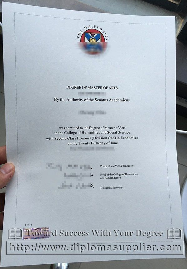The University of Edinburgh degree certificate, a picture of ...