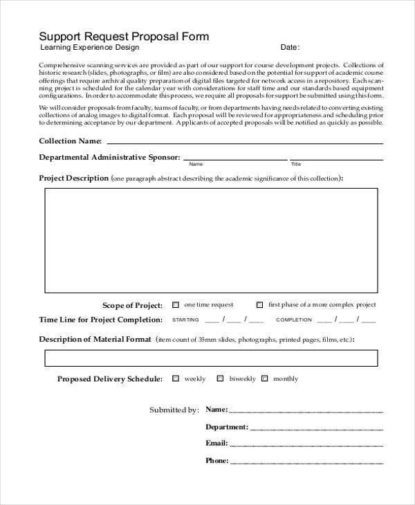 7+ Request Proposal Form Samples   Free Sample, Example Format .