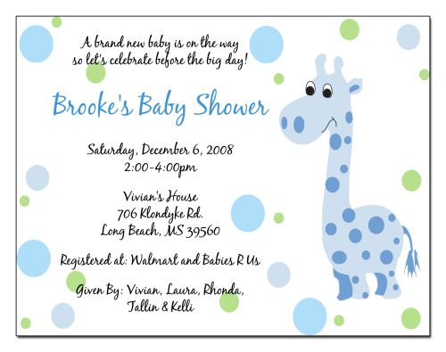 Examples of Baby Shower Invitations – frenchkitten.net