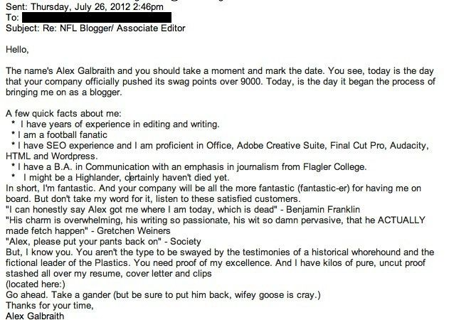 present to you the best cover letter i ve ever read click through ...