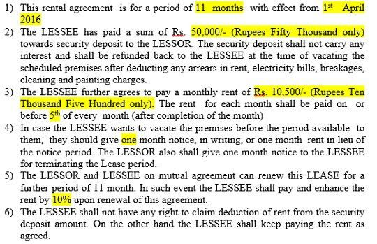 How to Claim HRA : Rental Agreement and Rental Receipt