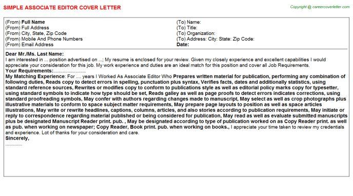 associate editor resume samples visualcv resume samples database ...