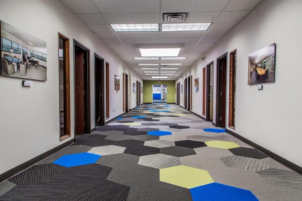 PC Once Source Office Hexagon installation | Shaw Hexagon Tiles ...