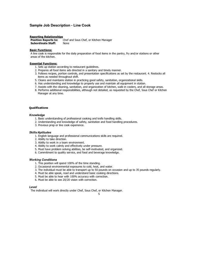 hospital cook job description for resume sainde org. vector ...