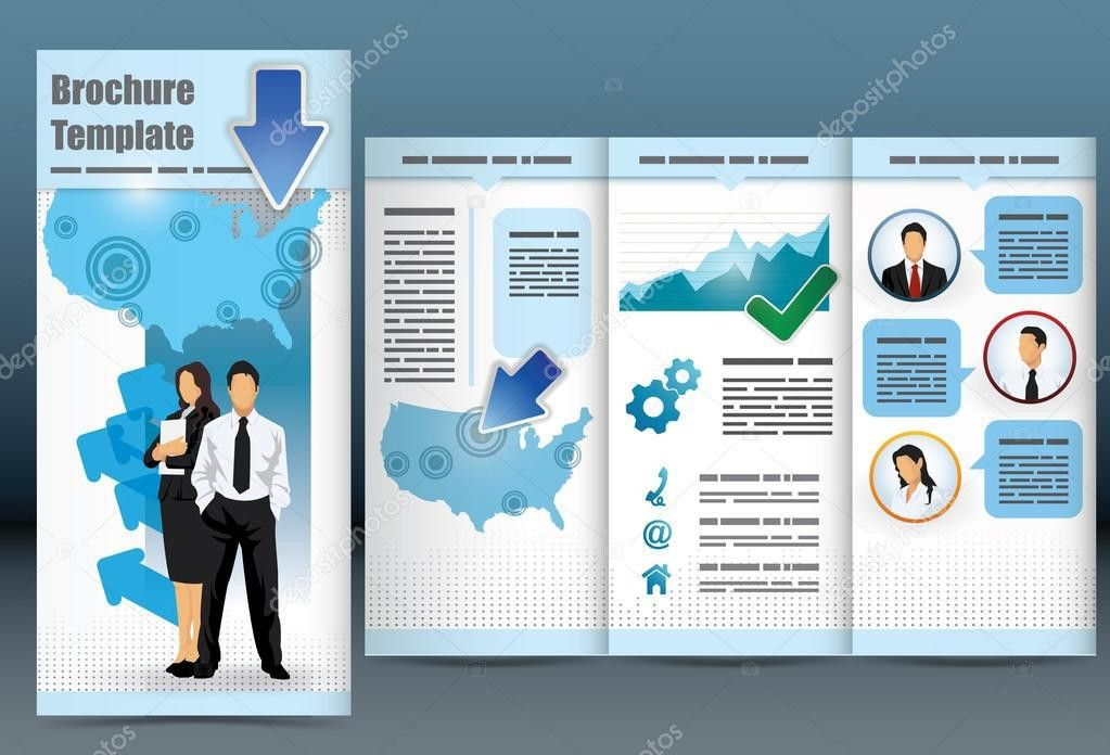 Trifold business brochure template — Stock Vector © levente #14798325