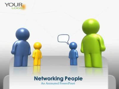 Social Networking People - A PowerPoint Template from ...