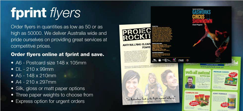 Discount Flyer Printing - Australia Wide Delivery