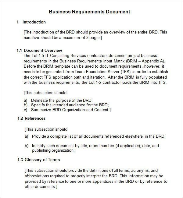 28+ Writing Business Requirements Template | Business Requirements ...