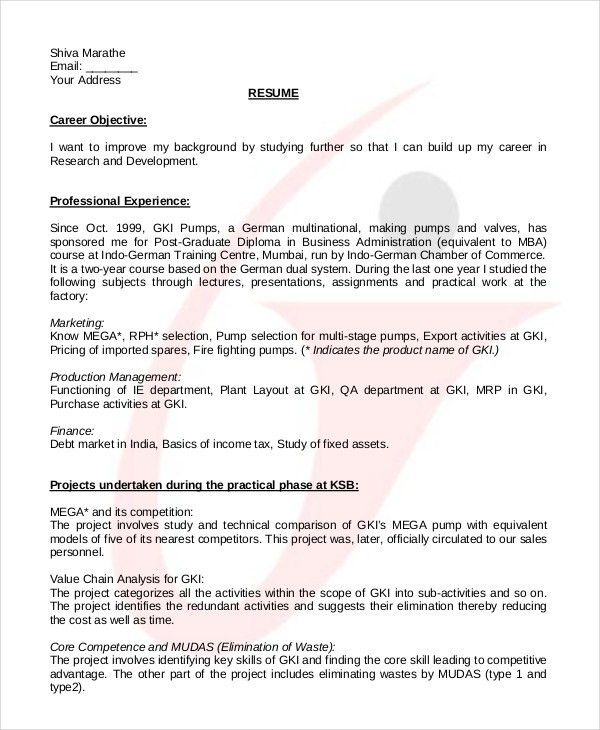College Student Resume - 7+ Free Word, PDF Documents Download ...