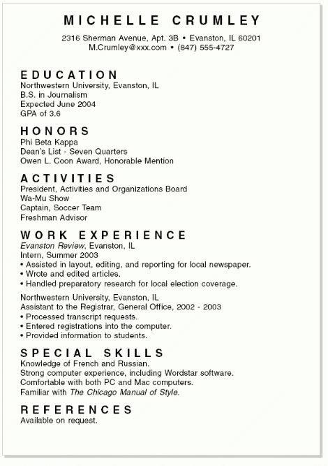 Resumes For Students | haadyaooverbayresort.com