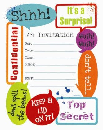 Surprise Party Invitation Template – frenchkitten.net