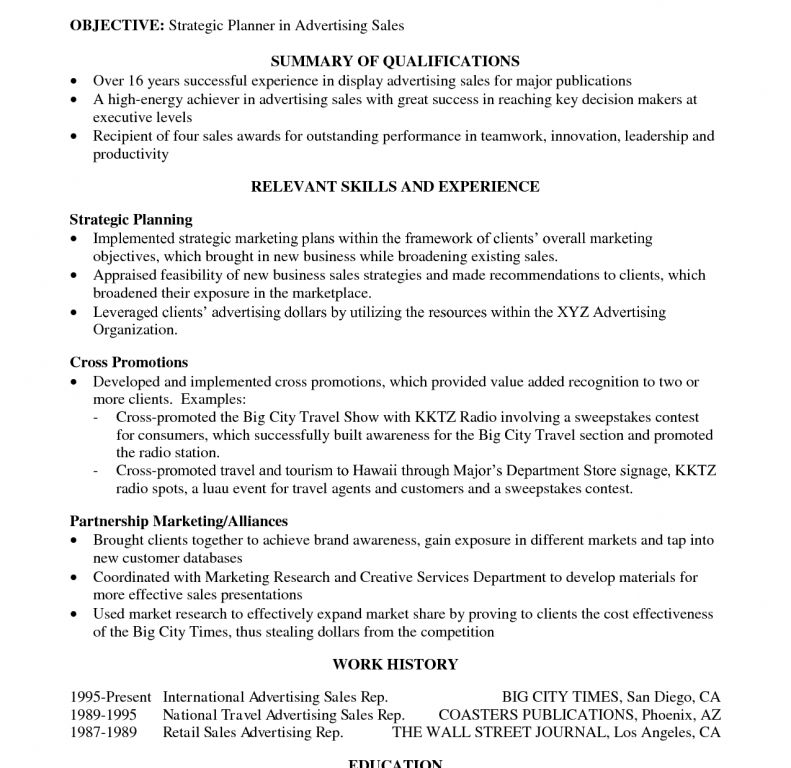 Amazing Summary Of Qualifications Resume Example 1 The Best ...