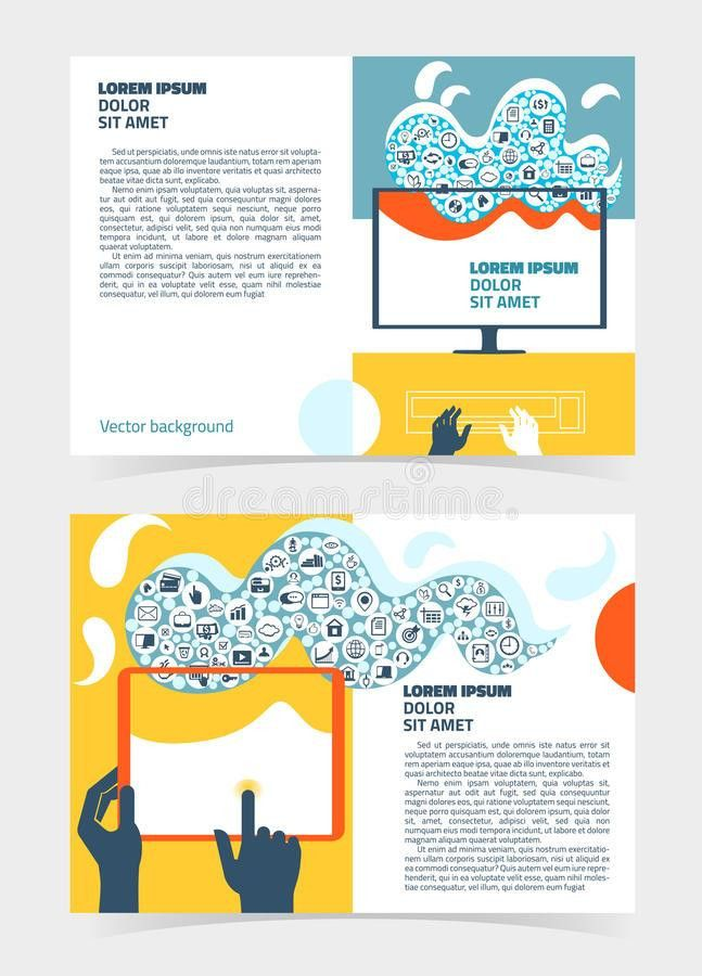 Flyer, Leaflet, Booklet Layout. Editable Design Template A5 Stock ...
