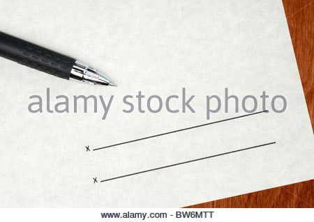 A blank contract waiting to be signed Stock Photo, Royalty Free ...