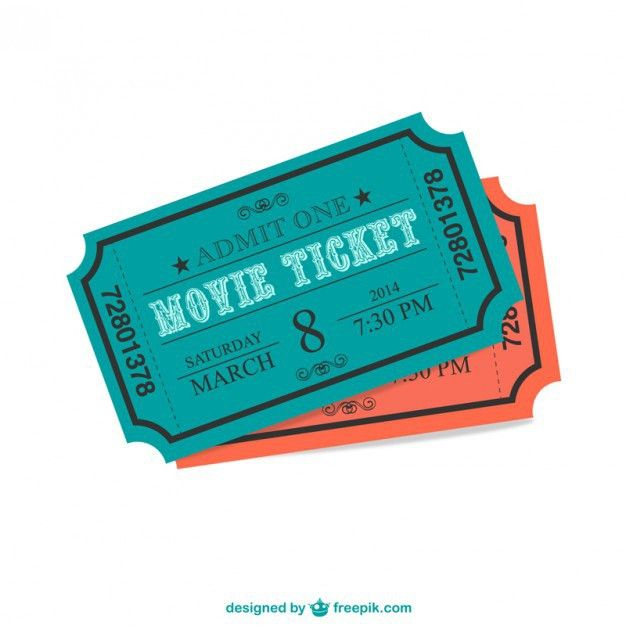 Cinema ticket Vector | Free Download