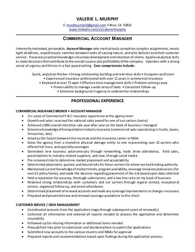 insurance account manager resumes insurance free resume images