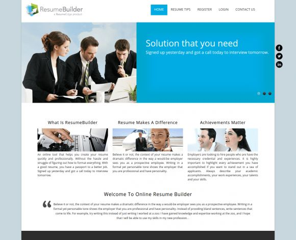 PHP Project on Online Resume Builder with MySQL Database