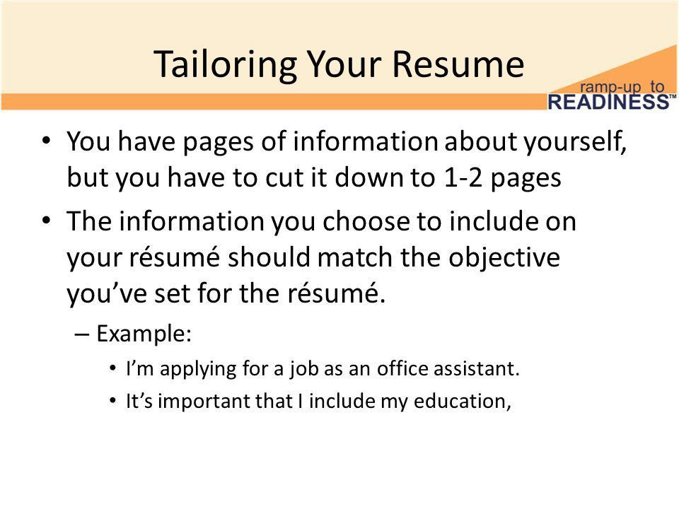 Creating a Résumé in Family Connection 10 th Grade: Resumes. - ppt ...