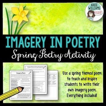 Imagery in Poetry Activity by Addie Williams | Teachers Pay Teachers