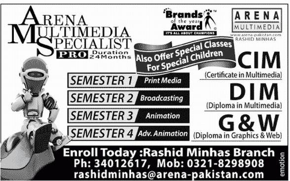 Multimedia Specialist Pro Duation Program, CIM, DIM, G&W, Semesters