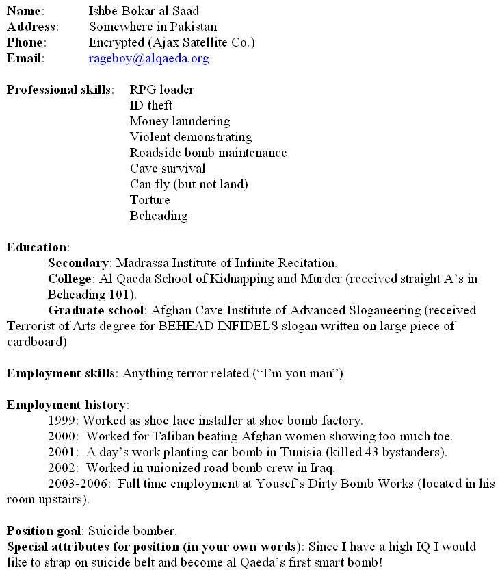 resume fillout
