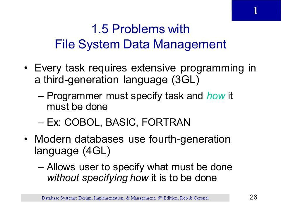 1 1 Chapter 1 Database Systems Database Systems: Design ...