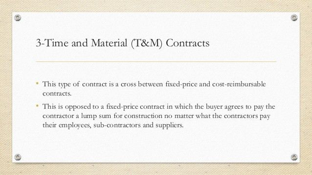 Types of contract in Project management
