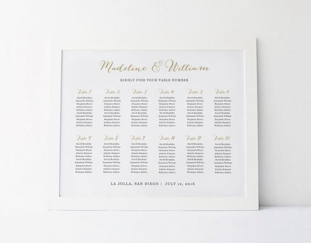 Wedding Seating Chart Template, Seating Plan, Rustic Seating Chart ...
