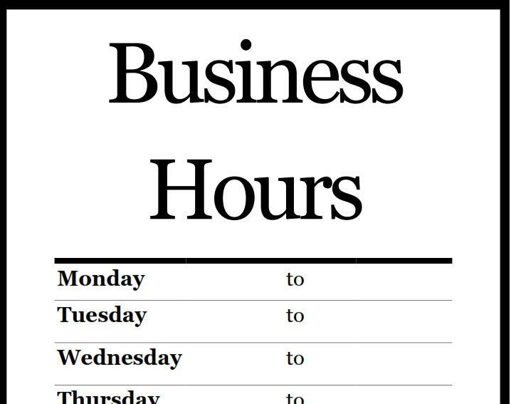 Hours Template. free microsoft office templates smartsheet. images ...